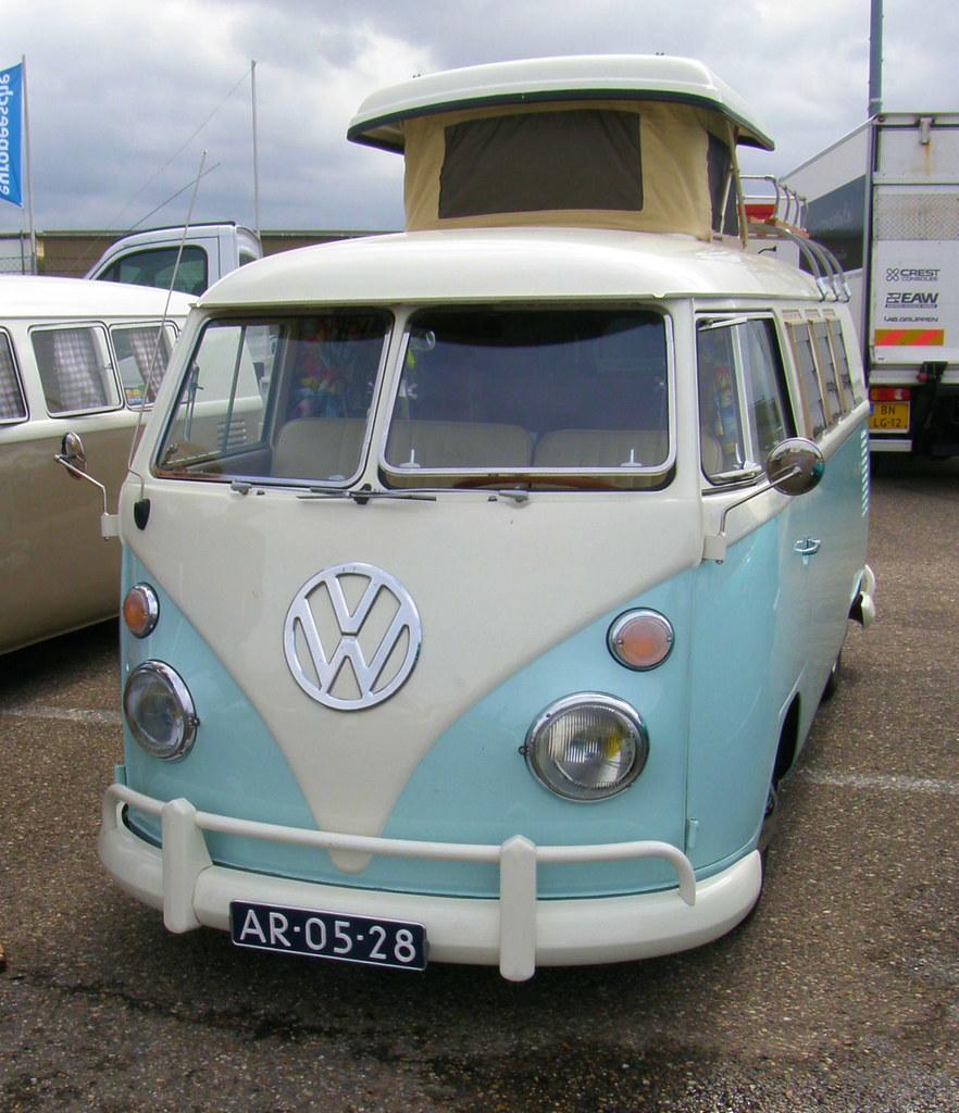 1965 Vw Bus T1 Foto Gemaakt Tijdens Het Nationaal