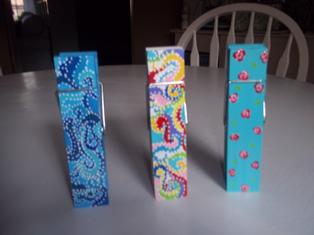 ... Giant hand painted clothes pins | by fun furniture1
