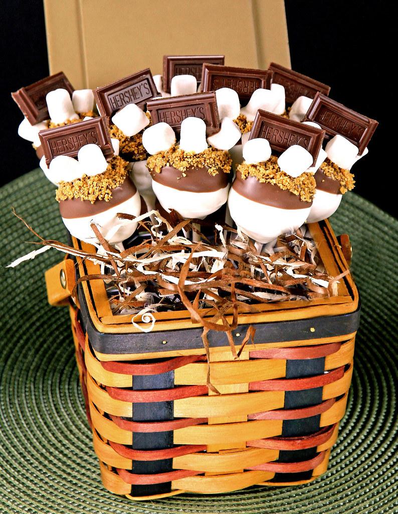 S Mores Chocolate Cake Pop Basket Irishmomluvs2bake Flickr