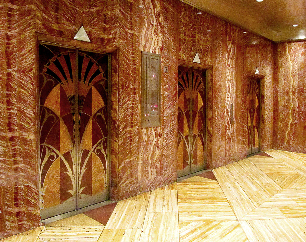 Chrysler Building lobby lifts | Andrew Middleton | Flickr
