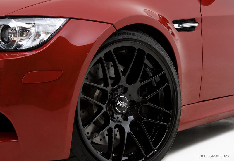 Vmr Wheels Gloss Black Vb3 On Melbourne Red Metallic E90