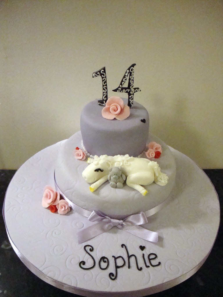 Girls 14th Birthday Cake Lisa Jane Fothergill Flickr