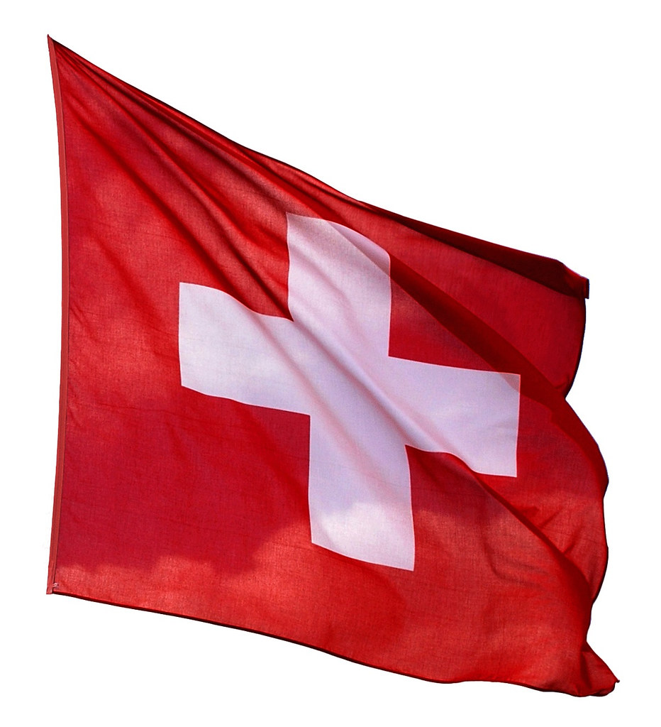 how to draw swiss flag