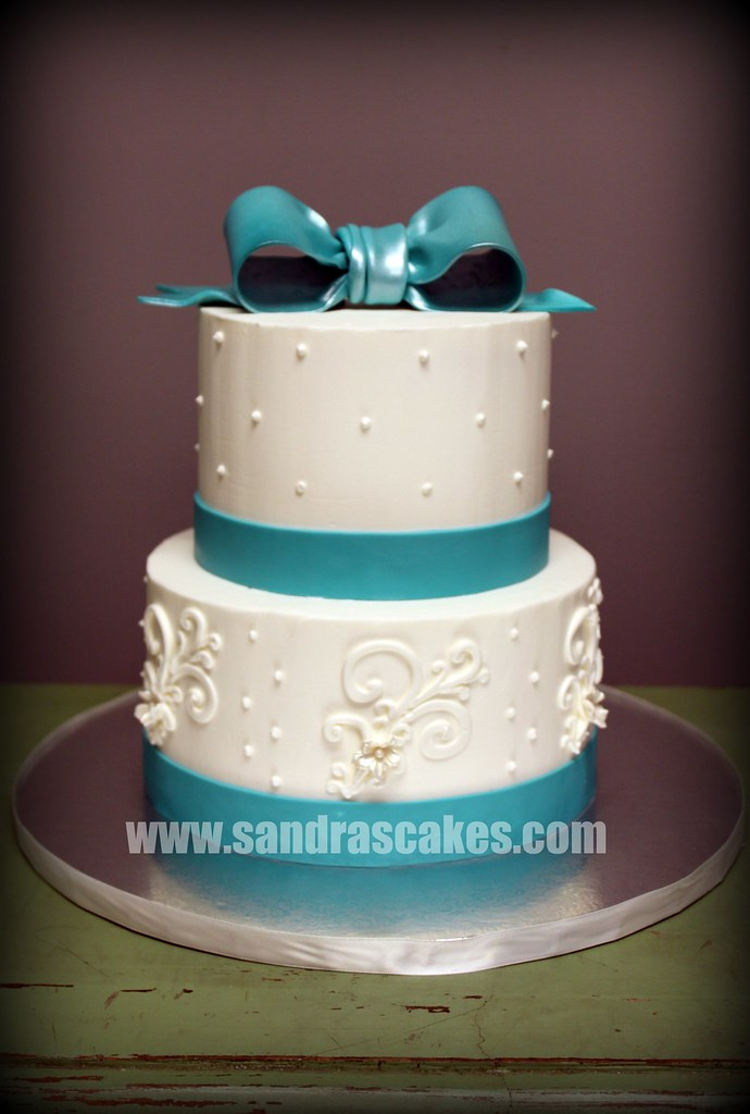 wedding cakes teal and white buttercream teal wedding durbin flickr 25696