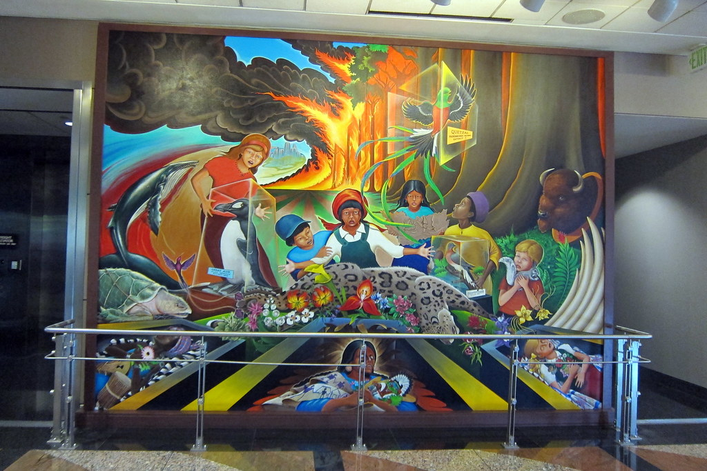 Denver denver international airport in peace and harmo for Dia mural artist