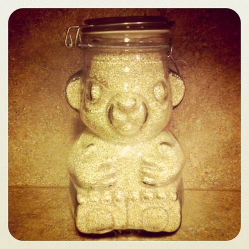 3.5 lbs of quinoa in a bear jar. That's how I roll. | by MyJRNY