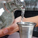 Tequila Poured into Match Pewter Jigger