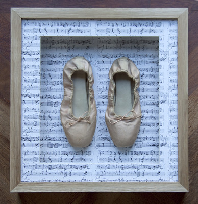 Framed ballet shoes - points | by bespokeframing