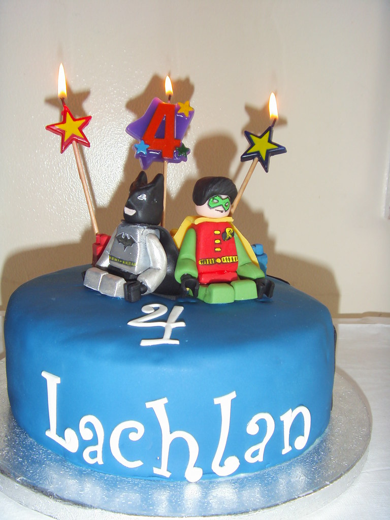 Lego Batman And Robin Cake For Lachlans 4th Birthday Flickr