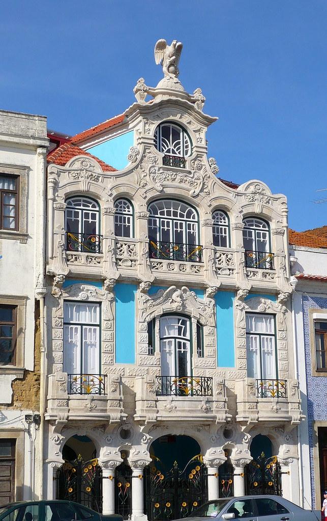 La maison bleue aveiro portugal fa ade de la maison bl flickr - Maison bleue mobel ...