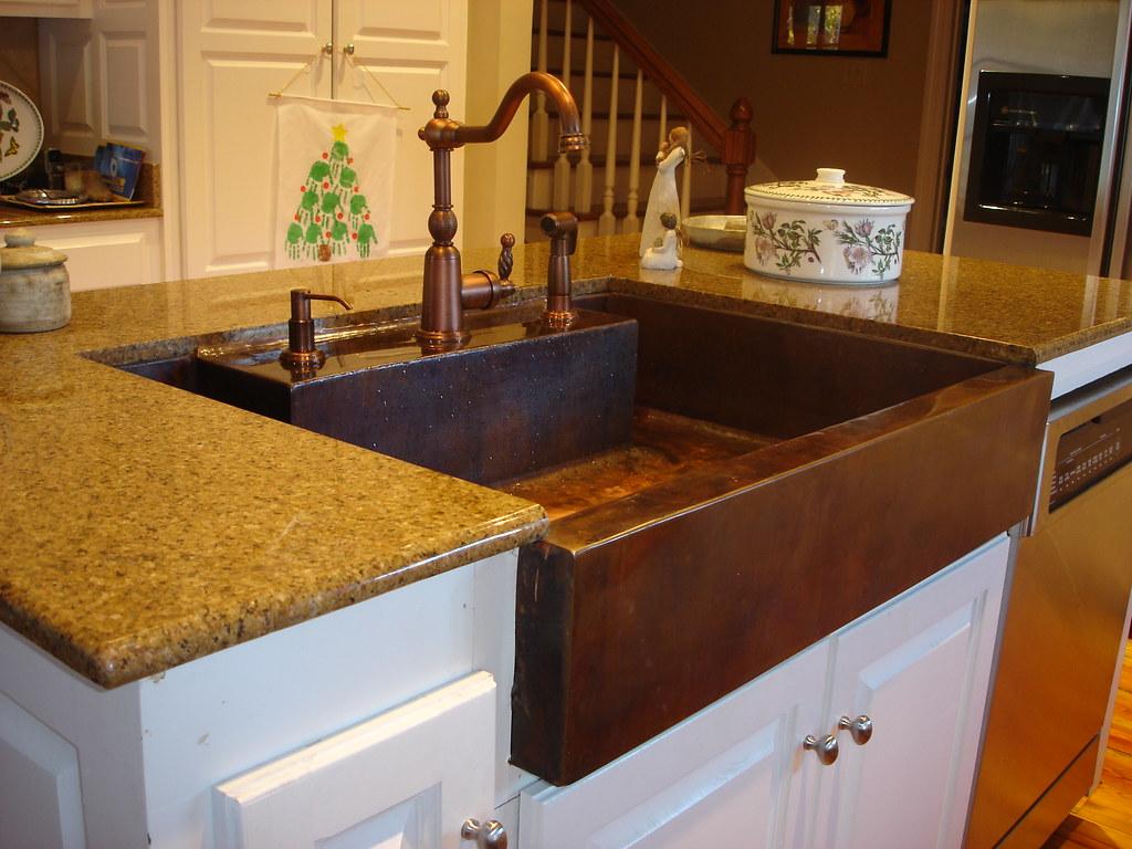 ... Handmade Hammered Copper Kitchen Apron Sink | By Misita Designs