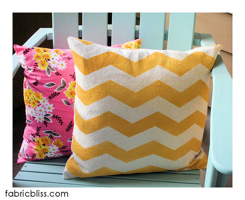 painted_chevron_pillow | by fabric.bliss