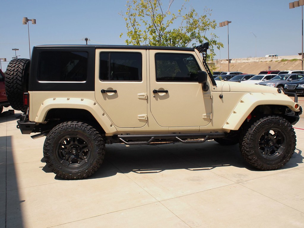 jeep wrangler unlimited with line-x body | mwbutterfly | flickr