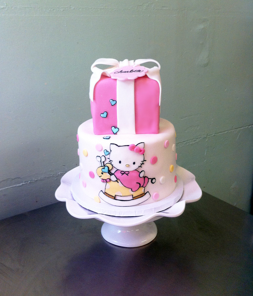 Hello Kitty Baby Shower Top Tier Chocolate Mint Cake Bot Flickr