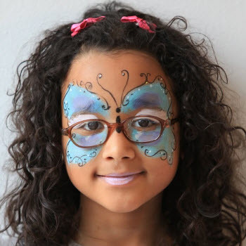 Butterfly face paint kits how to use a for How to apply face paint