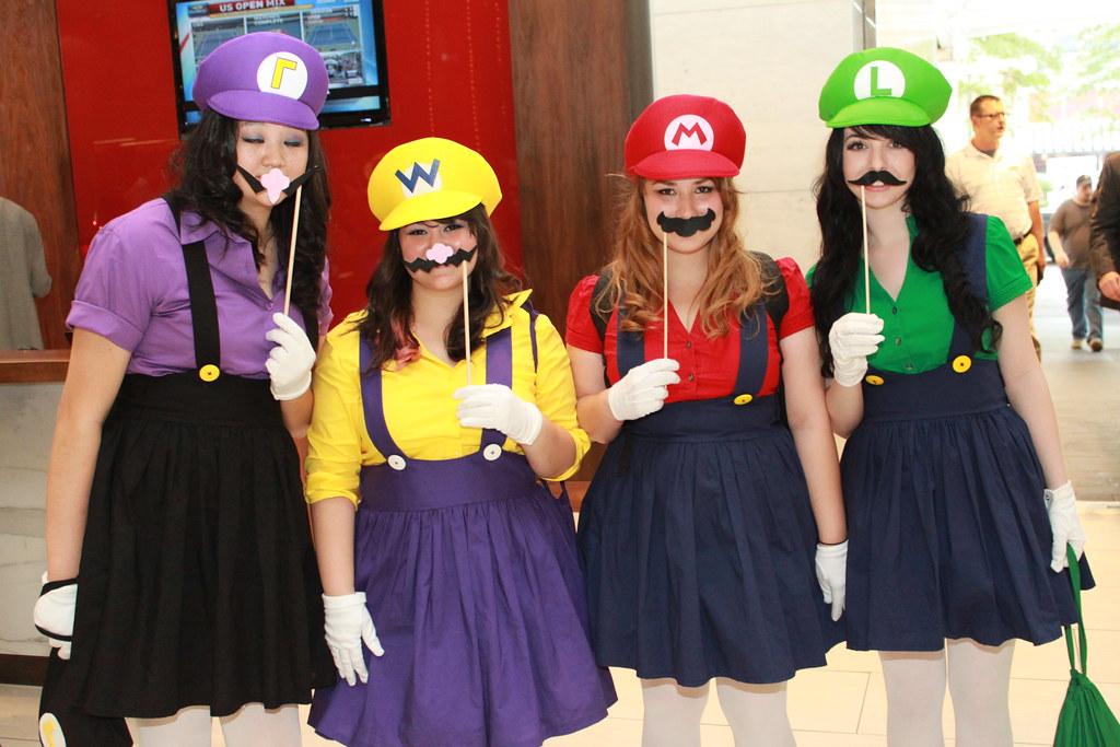 Dragoncon 2011 Day 2 Female Marios Jeff James Flickr. SaveEnlarge · Funy Cosplay Costume Super Mario Luigi Brothers Plumber  sc 1 st  Meningrey & Mario And Luigi Female Costumes - Meningrey