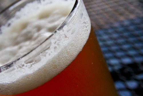 Glass of Beer Foam Lacing Scott's Harbor Grill Traverse City  August 24, 20112 | by stevendepolo