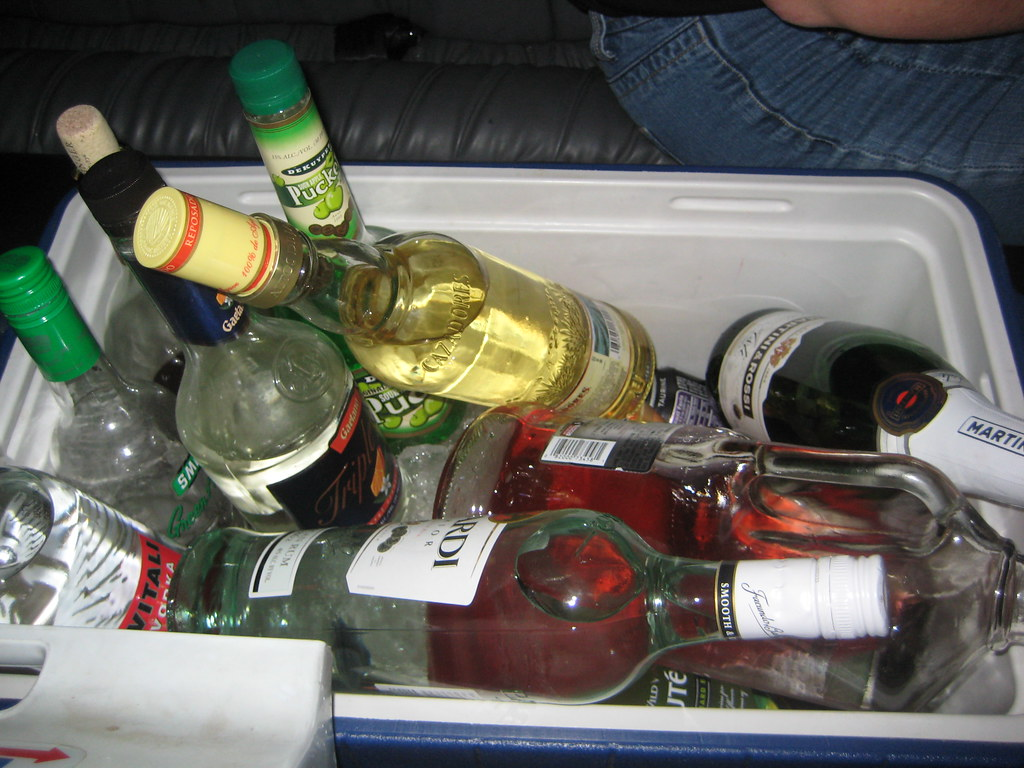Cooler of Alcohol | For my friend's 40th birthday we ...