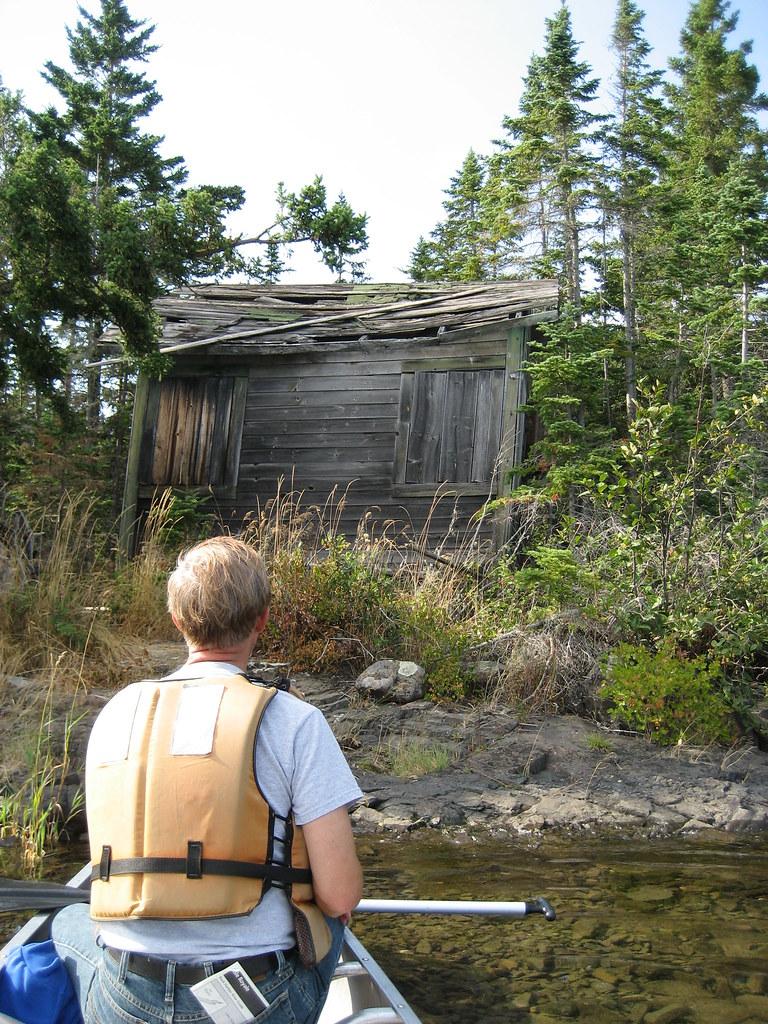 Old Cabin On Island In Tobin Harbor Isle Royale National