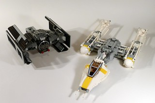 7658 Y-wing and 8017 Darth Vader's TIE Fighter | by fbtb