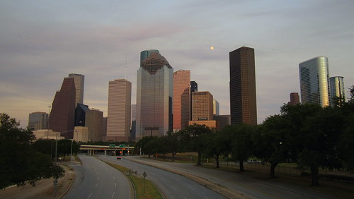 Moonrise over Houston | by Partha