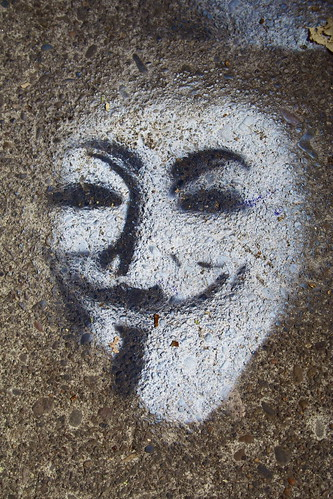 Guy Fawkes Anonymous face stencil | by elias_daniel
