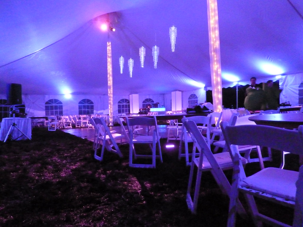 Light Up Tent Private Backyard Party