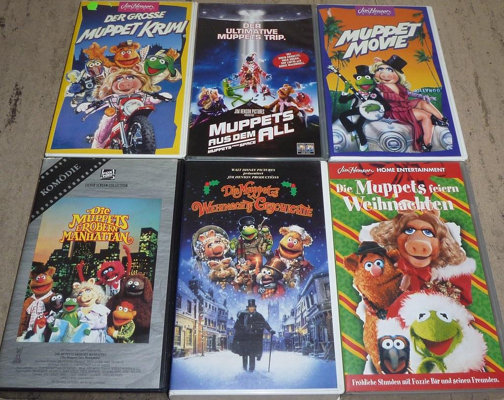 6 muppet filme vhs videokassetten der grosse muppet. Black Bedroom Furniture Sets. Home Design Ideas