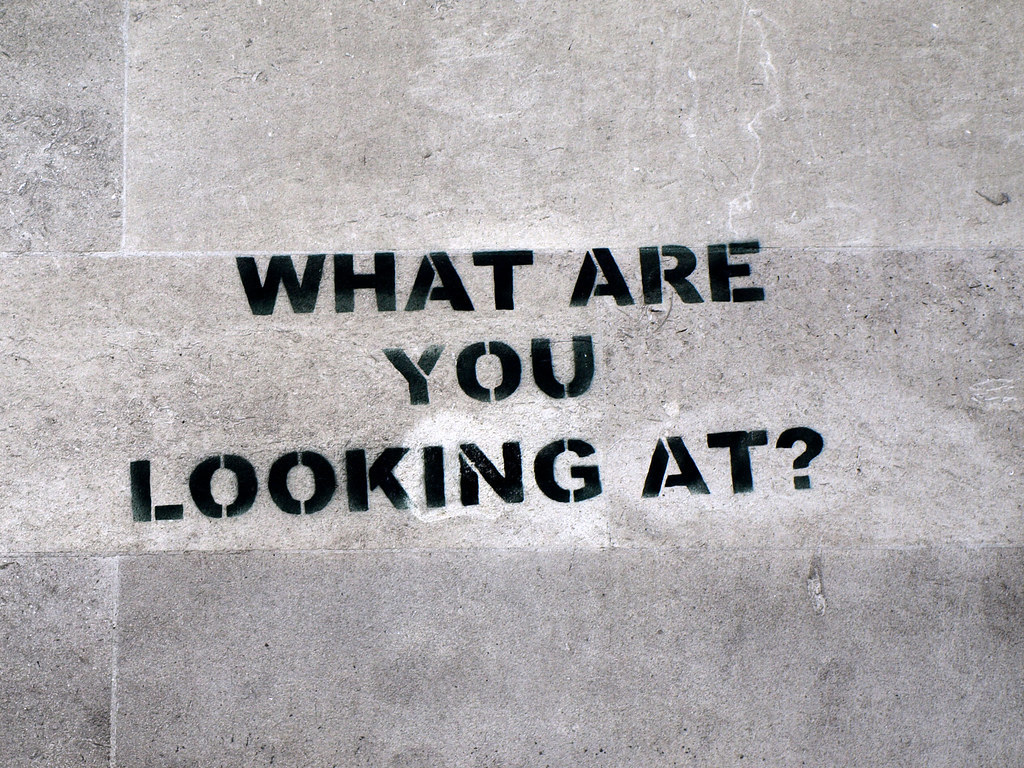 Banksy What Are You Looking At Central London 2007