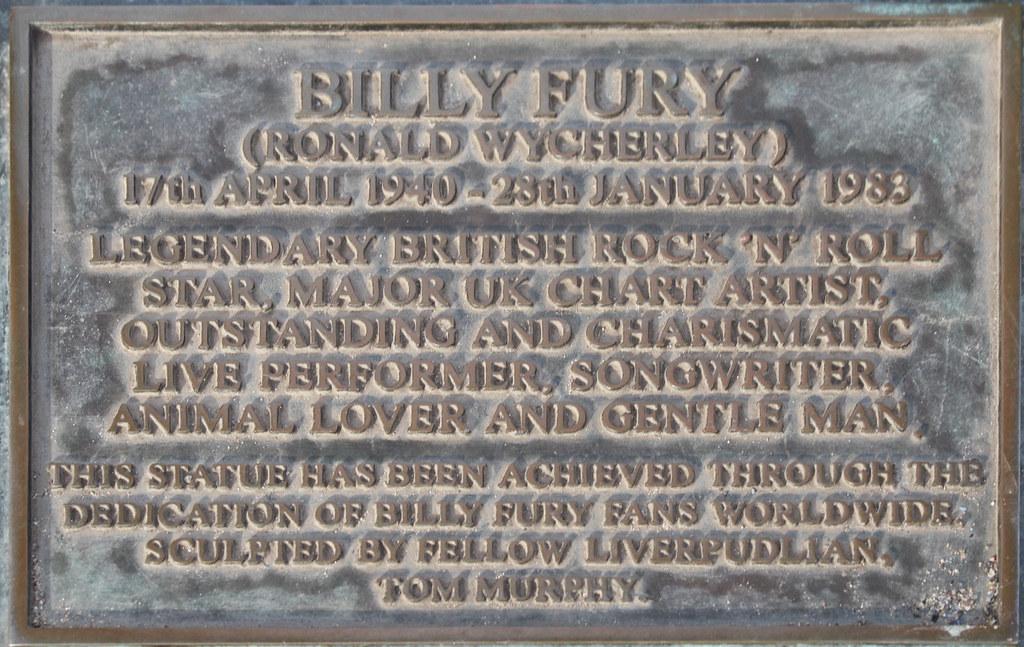 Billy Fury Statue Plaque Albert Dock Liverpool Robert