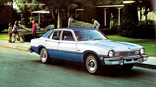1976 Ford Maverick 4-Door Sedan with Luxury Decor Option ...