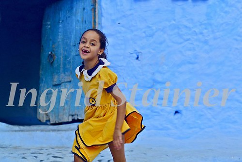 023. Cute Little Princess in her Yellow Dress, Chaouen, Morocco | by Charlottine'sPics - ingridstainier.com