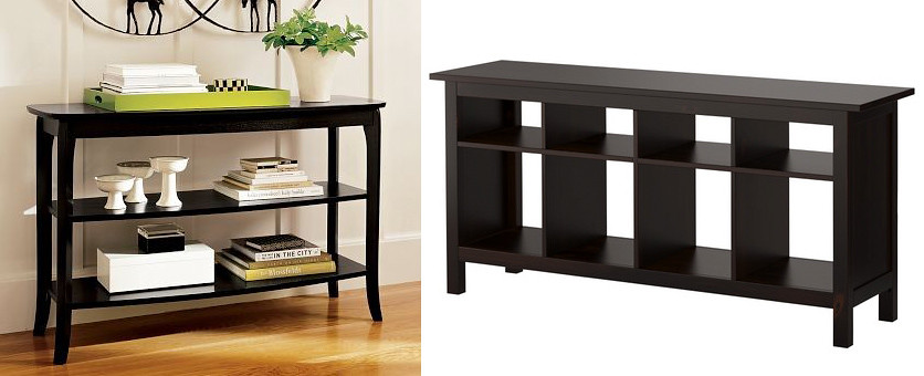 Bookcase Inspiration Pottery Barn Chloe Console Table I Flickr - Pottery barn chloe end table