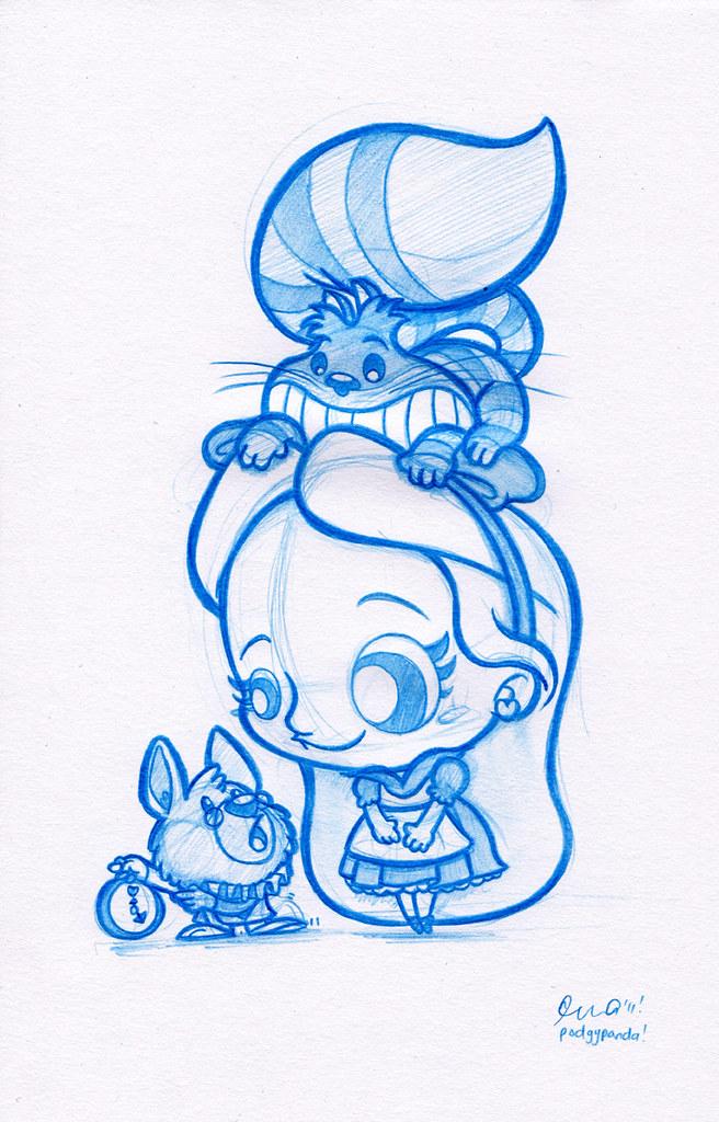 Blue Doodle #3: Alice in Wonderland! | Spent a good solid ...