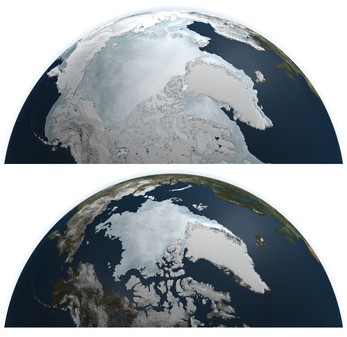 Arctic Sea Ice Maximum and Minimum 2011 [Diptych] | by NASA Goddard Photo and Video