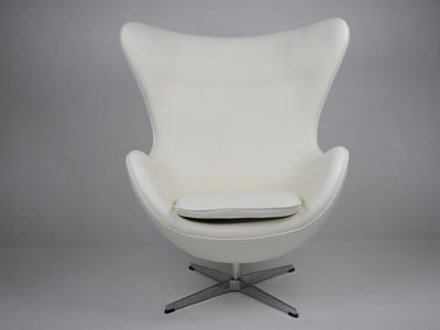 White Leather Egg Chair | White Leather Egg Chair Our Jacobsu2026 | Flickr