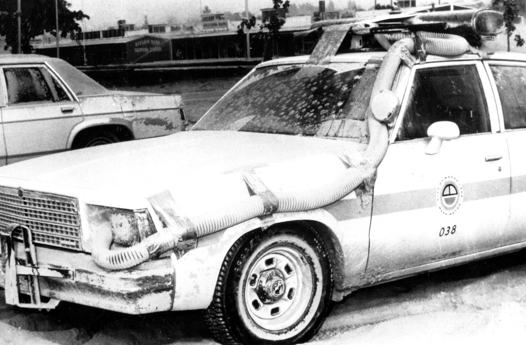 Air Filtration On Police Car After Mt St Helens Eruption