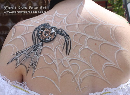 Steampunk spider tattoo winnipeg facepaint | by hennajunkie95