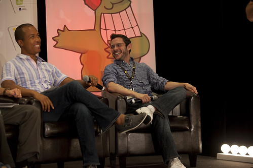 Marcus Wiley and Jake Labow at the Just For Laughs Comedy Conference | by Juste pour rire / Just For Laughs