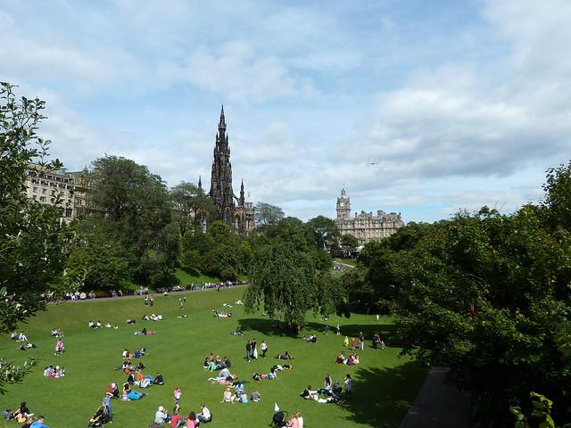 Princes Street Gardens Edinburgh in the sunshine