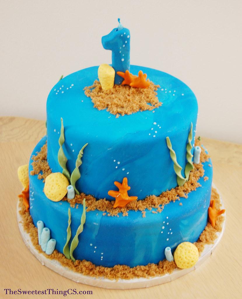 Oceanbeach First Birthday Cake Hilda Fernandez Flickr