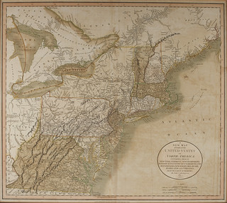 A new map of part of the United States of North America : containing those of New York, Vermont, New Hampshire, Massachusets [sic], Connecticut, Rhode Island, Pennsylvania, New Jersey, Delaware, Maryland and Virginia. From the latest authorities : 1811 | by uconnlibrariesmagic