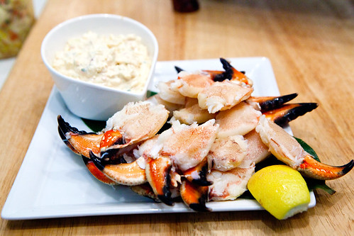 Stone crab claws with kimchi aioli | by thewanderingeater