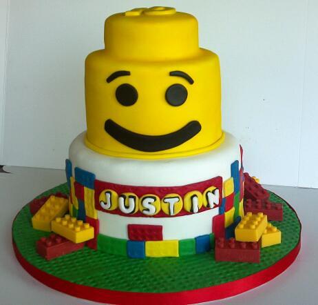 Lego Blocks Birthday Cake