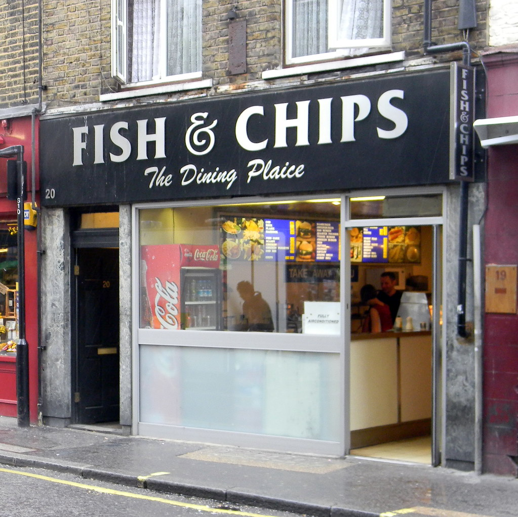 The dining plaice fish and chip shop cafe berwick street s for The fish shop