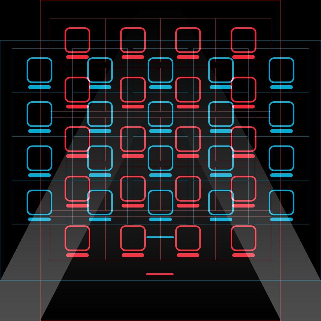 IPad Rotationproof Icon-grid Wallpaper