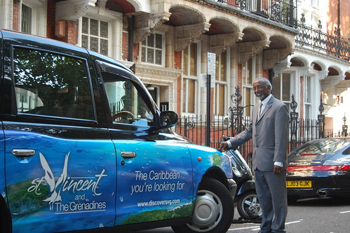 The High Commissioner and an SVG taxi | by DiscoverSVG