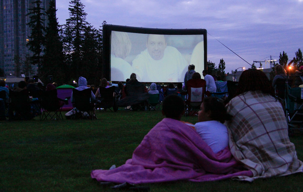 Image result for outdoor movie