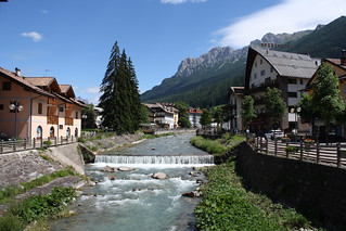 Stream running through village of the Dolomites | by Exodus Travels - Reset your compass
