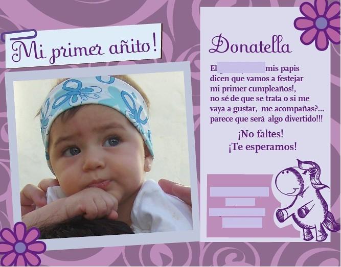 TARJETAS DE CUMPLEAÑOS / OPCIÓN 1 | Tarjeta de primer año :)… | Flickr